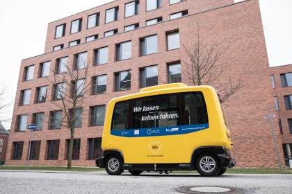 Autonomer Klein-Bus in Berlin