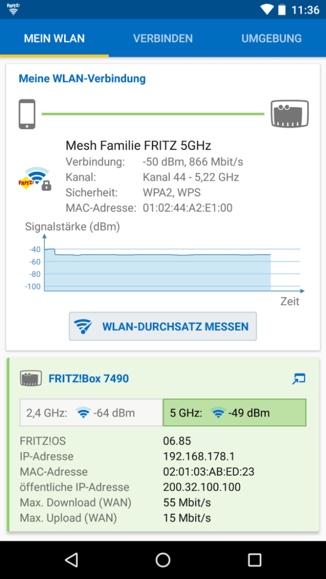 FritzApp WLAN Beta Version 2.6.5