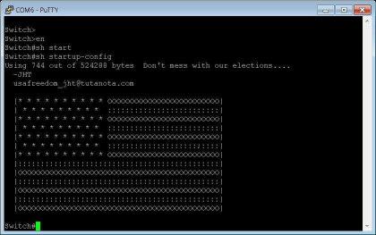 US-Hacker malen auf Routern