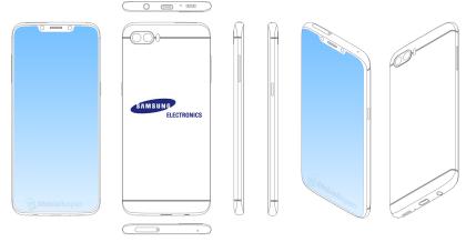 Samsung-Skizze mit Notch