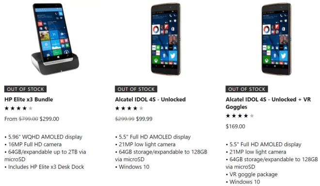 Microsoft: Windows 10-Smartphones ausverkauft