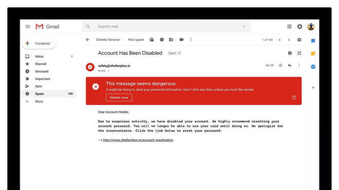 Gmail: Redsign