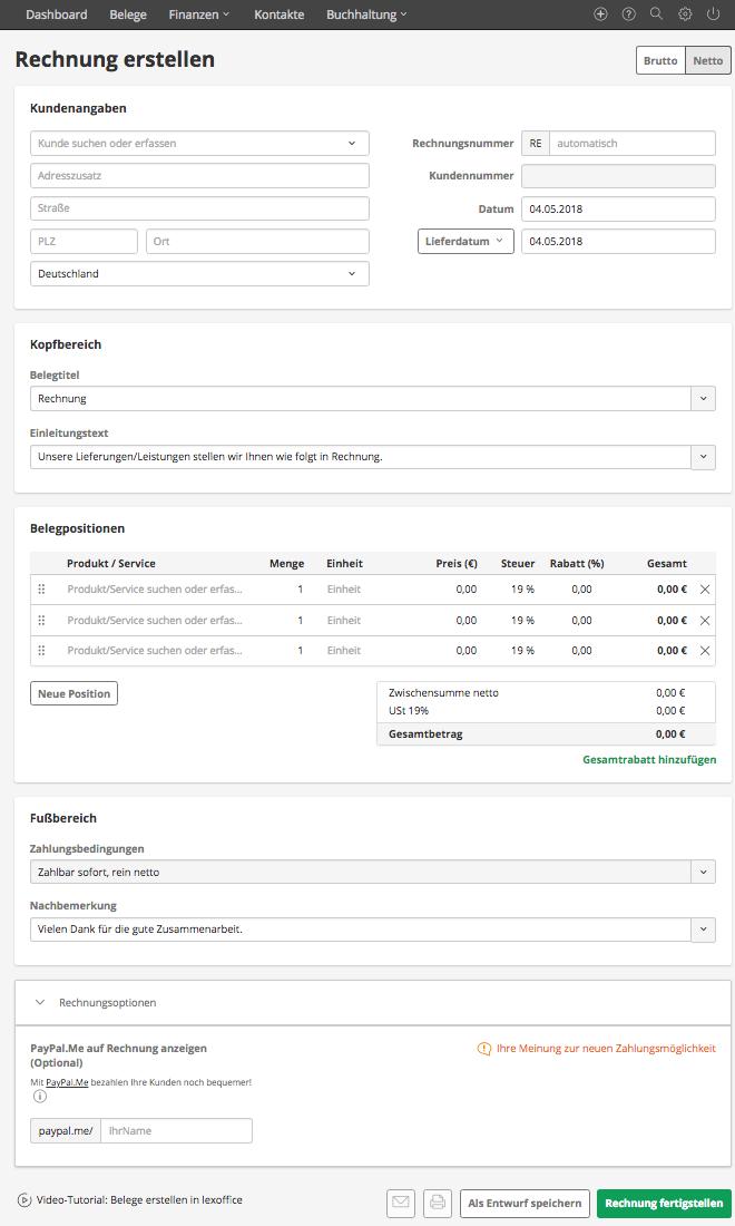 Lexoffice: Umfassende Rechnungs- & Buchhaltungs-Software