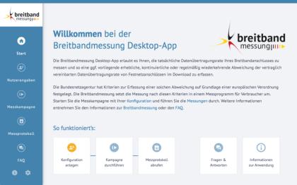 Breitbandmessung Desktop-App der Bundesnetzagentur