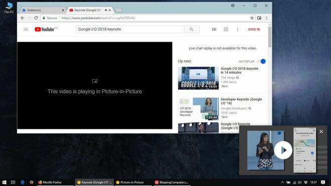 Bild-in-Bild-Funktion im Chrome