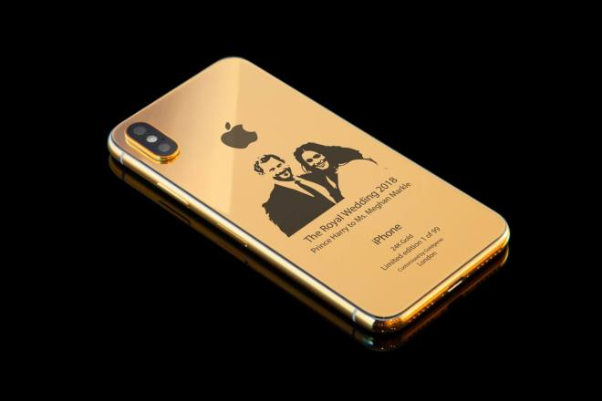 Royal Wedding iPhone Hülle in Gold
