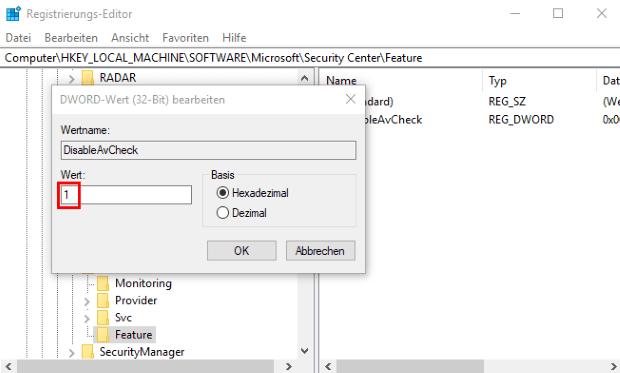 FAQ: AV-Check deaktivieren