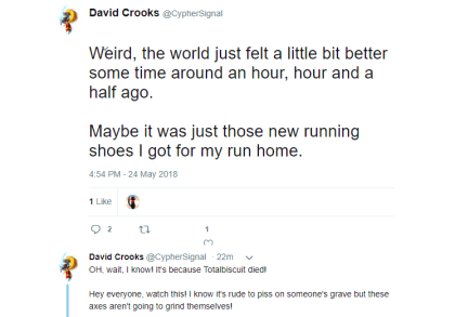 David Crooks über TotalBiscuit