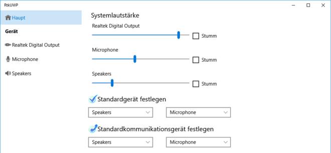 Realtek Audio Control