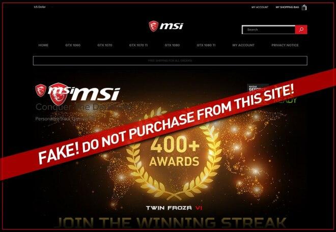 MSI warnt für gefälschten Shops