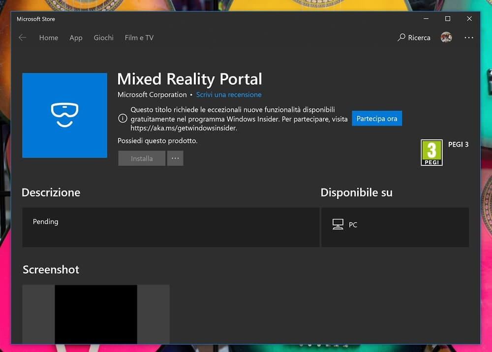 Windows Mixed Reality Portal