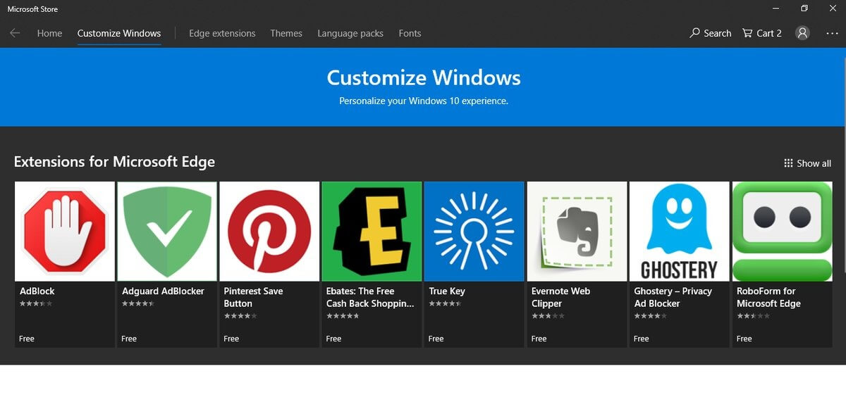 Microsoft Store: Wunschliste & neue Navigation