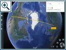 Google Earth: Entfernungen und Flächen messen