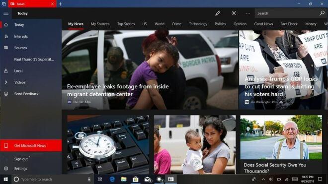 Microsoft News-App für Windows 10