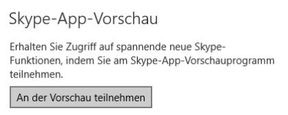 Skype-App-Vorschau