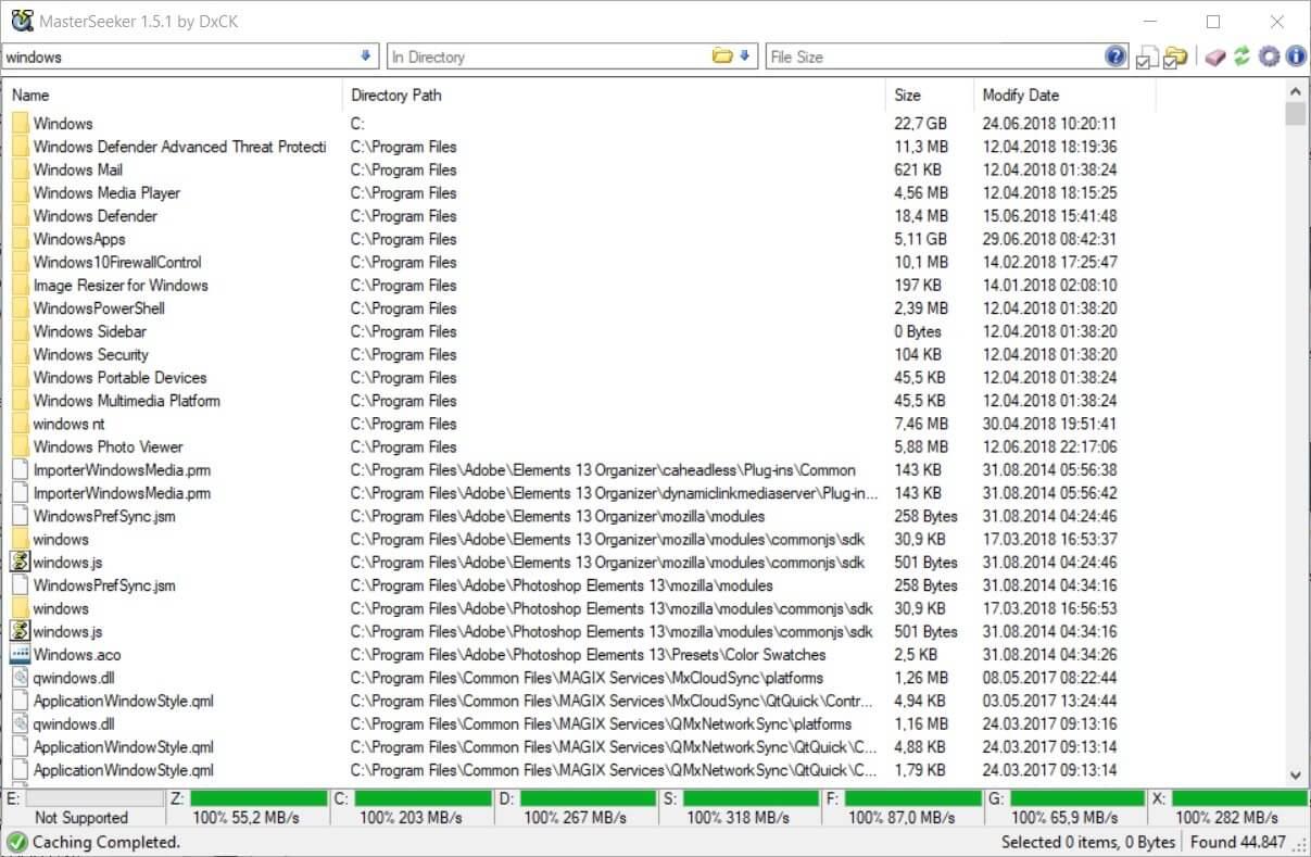 AES verschlüsseltes Dokumentenmanagement, bei dem Sie auch archivierte Anhänge durchsuchen können.