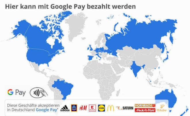 Hier kann mit Google Pay bezahlt werden