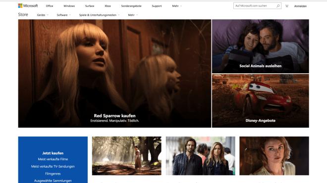 Microsoft Store Filme & TV