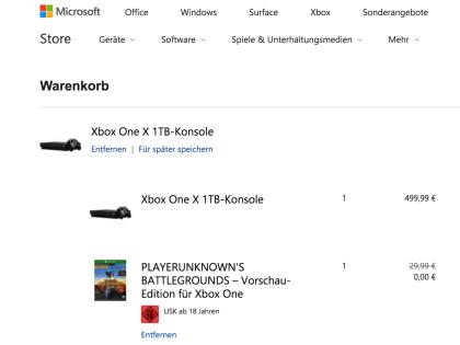 Microsoft Xbox-Bundles Sommer 2018