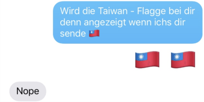 Taiwan-Zensur in iOS
