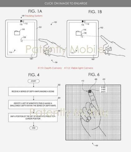 Microsoft Patent berührungslose Eingaben