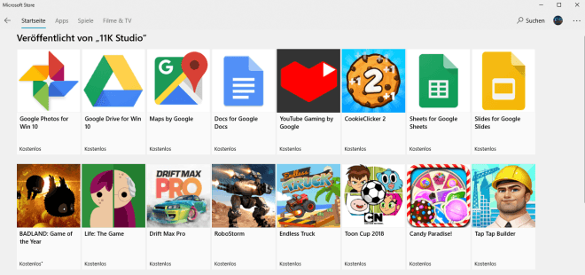11K Studio: Google-Apps