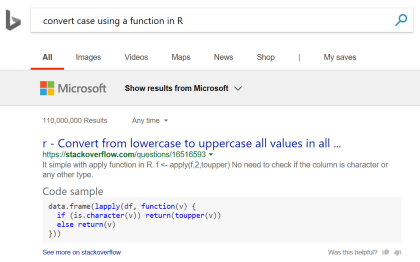 Bing: Code Sample Answer