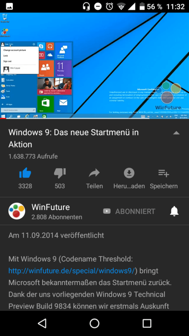 YouTube Dark Mode auf Android