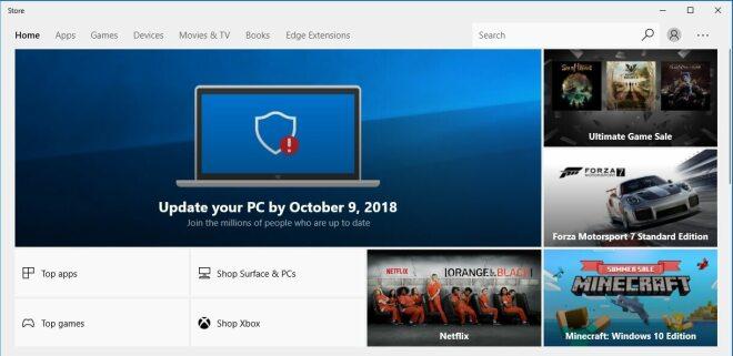 Microsoft Store: Update-Aufforderung