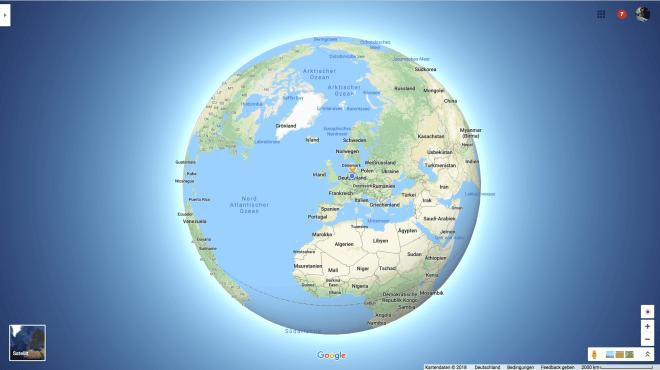Google 3D Globe Mode