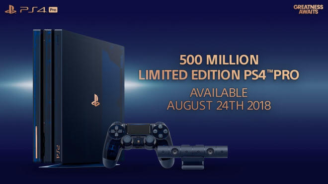 Sony 500 Million Limited Edition PS4 Pro