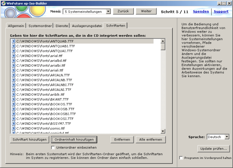 WinFuture XP ISO Builder 3