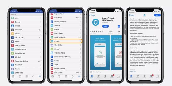 Facebooks VPN-App Onavo