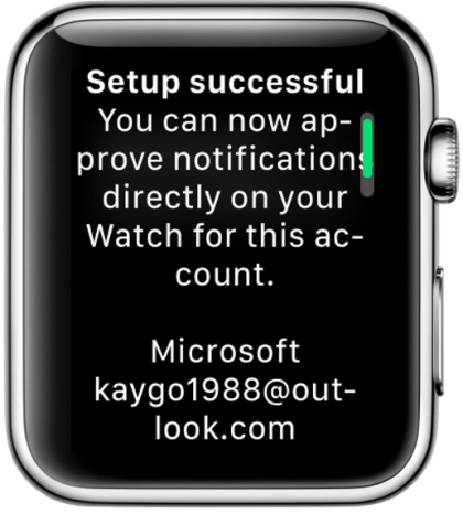 Microsoft Authenticator Apple Watch