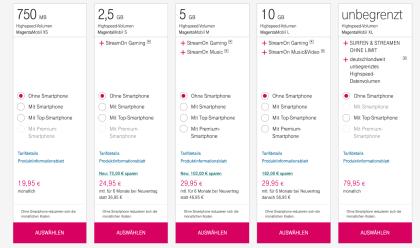 Telekom MagentaEins und MagentaMobile Tarife IFA 2018