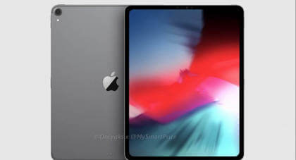 iPad Pro Render 2018 Edge to Edge Display