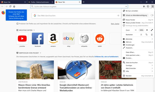 Mozilla Firefox 62