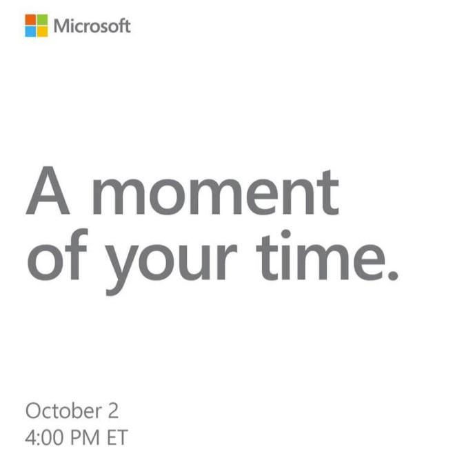 Microsoft-Event Oktober 2018