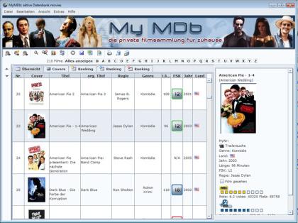 Filmsammlung verwalten mit MyMDb