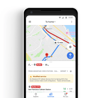 Google Maps-Update Oktober 2018