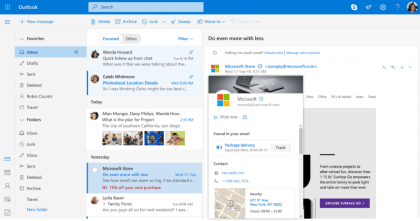 Blaue Häkchen in Outlook.com
