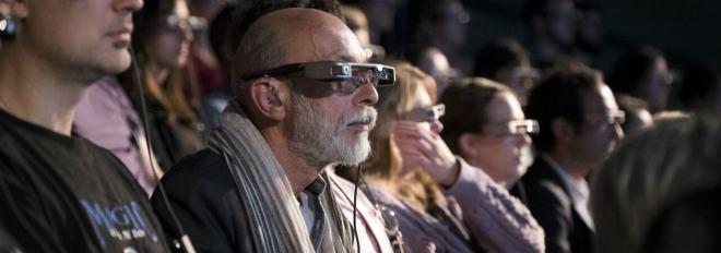 Datenbrillen am National Theatre in London
