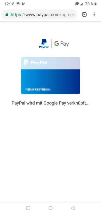 PayPal auf Google Pay
