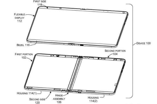 Microsoft-Patent: Schiebe-Scharniere für faltbares Gerät