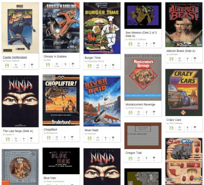 C64-Spiele auf Internet Archive