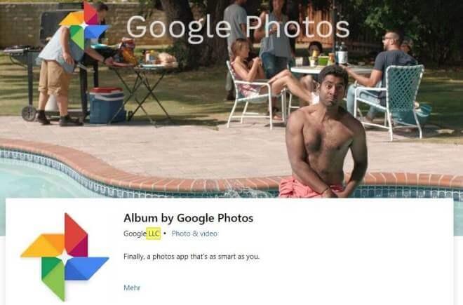 Google Photos im Microsoft Store