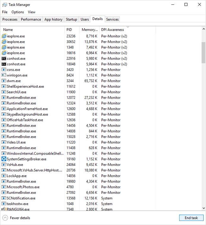 Windows 10 Build 18262 (19H1)