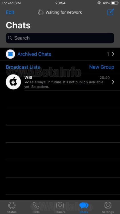 WhatsApp dunkler Modus
