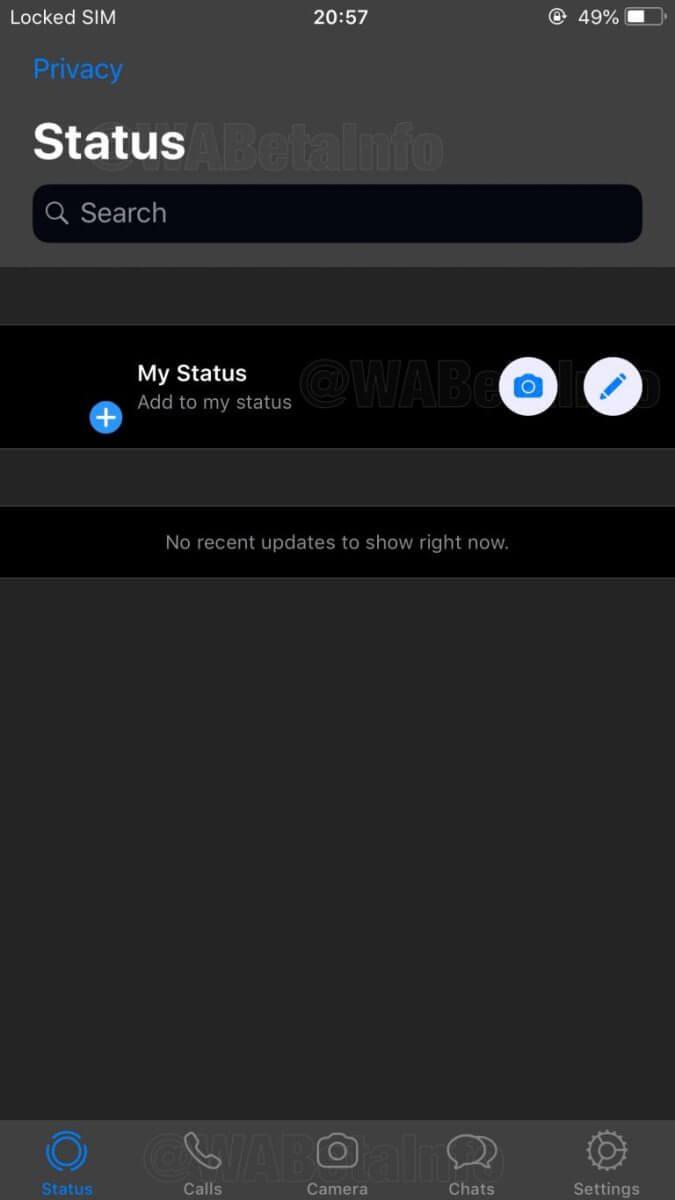 Dark Modus Whatsapp