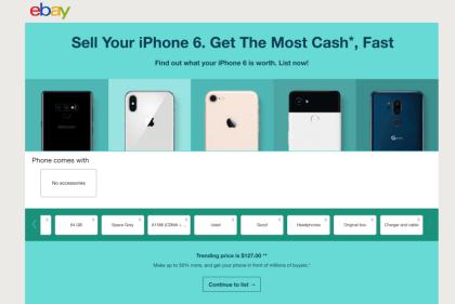 Ebay Instant Smartphone Selling